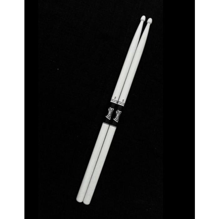 LW5AW 5A Барабанные палочки, граб, деревянный наконечник, белые