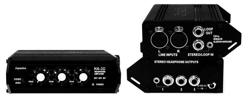 HA3D 3-канальный усилитель-распределитель для наушников
