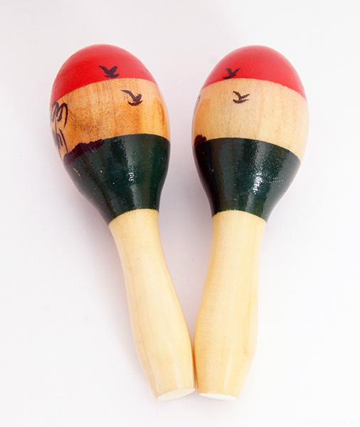 M9 Маракасы деревянные маленькие, длина 8 см