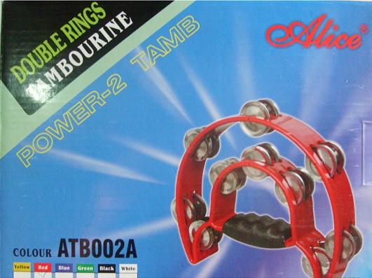 """ATB002A Тамбурин """"Двойной полукруг"""", 20 пар бубенцов"""