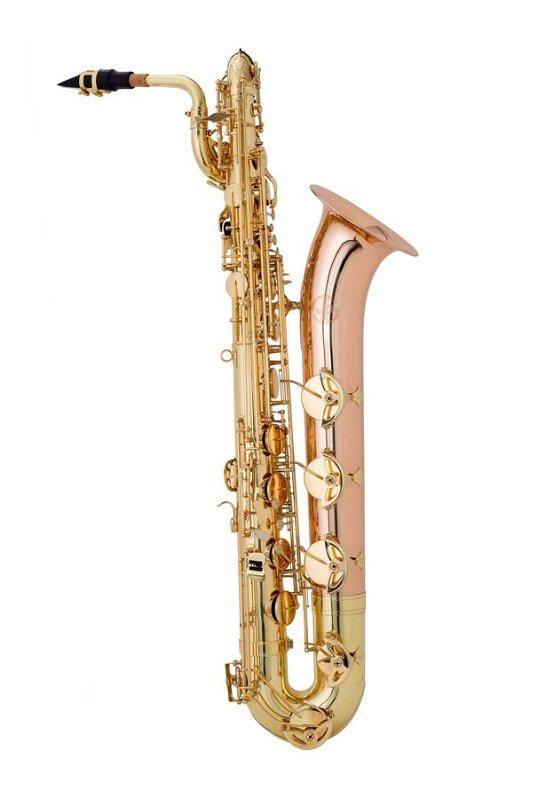 JP044 Саксофон-БАРИТОН Eb, полупрофессиональная модель, цвет - золото, высокий клапан F#