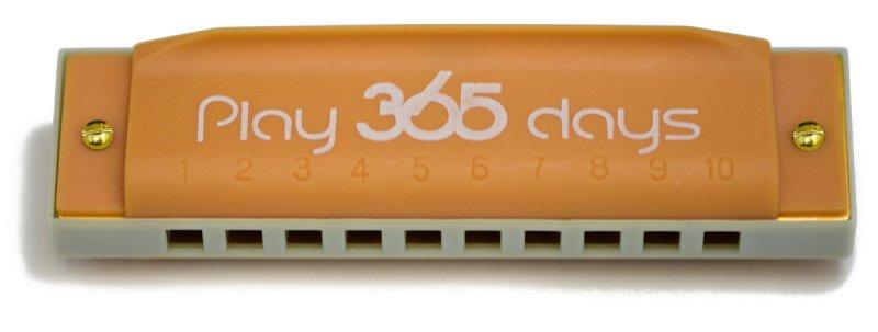 P365-1OR диатоническая губная гармошка детская/ С-До/Цвет оранжевый