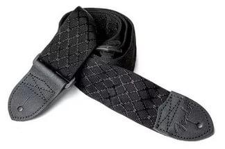 Nylon Jacquard Strap, 2` Black Satin Diamond