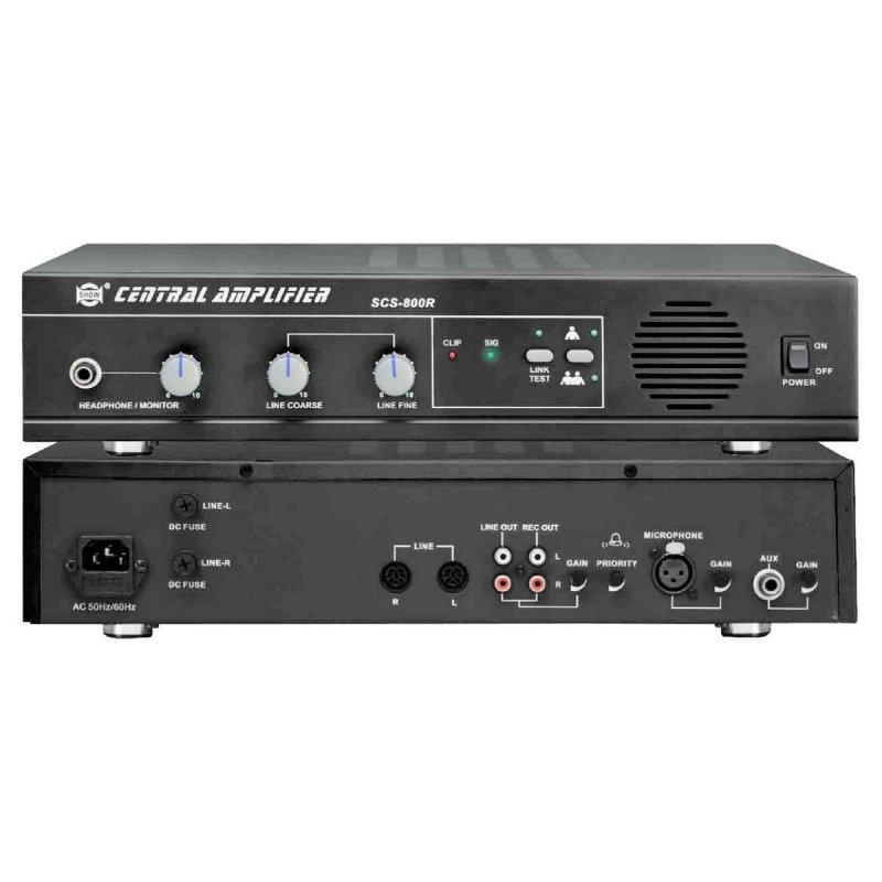 SCS800R - Центральный блок на 30 мест с монитором 3 Вт., доп. микр.вх., вых. на запись.