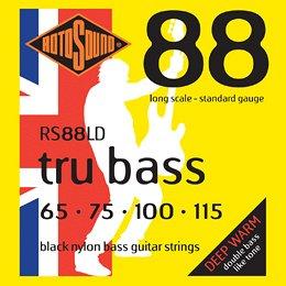 RS88LD BLACK NYLON FLATWOUND BASS STRINGS