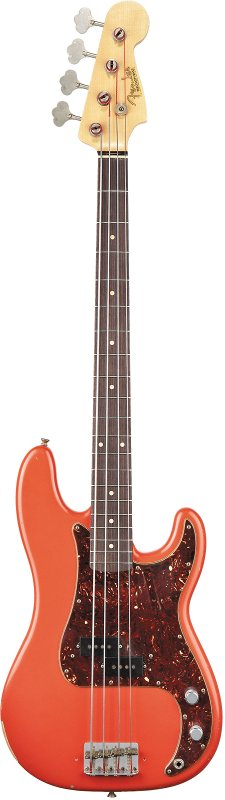 Custom Shop Pino Palladino Signature Precision Bass, Rosewood Fingerboard, Fiesta Red