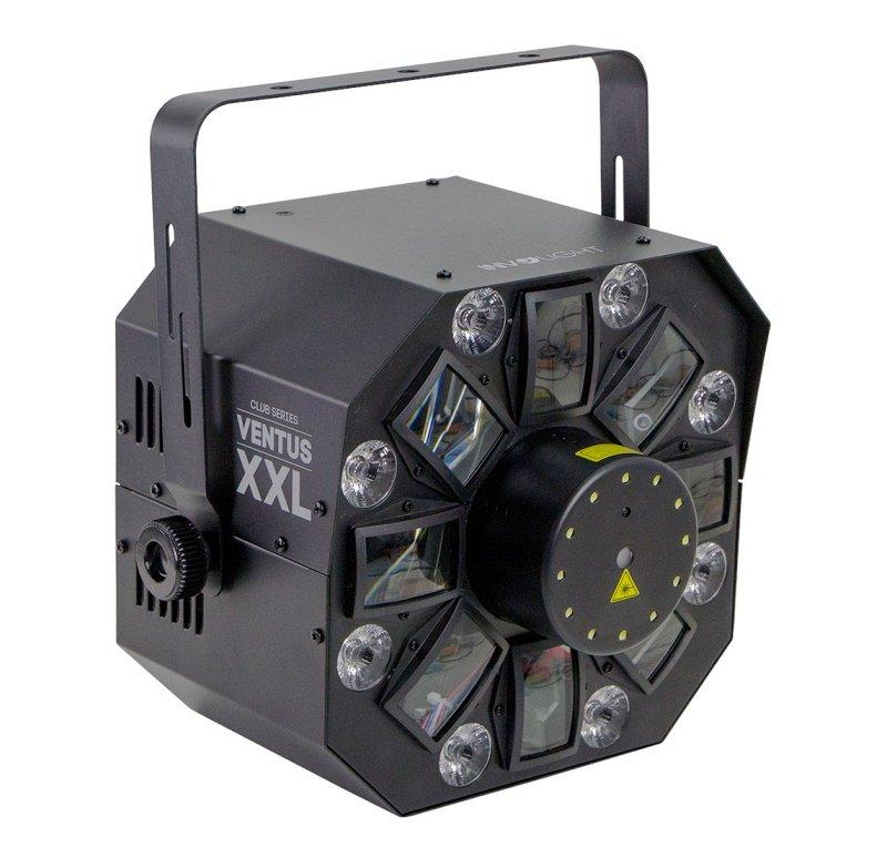 Ventus XXL - световой эффект, 6 шт. 3 Вт RGBWA+UV, 12 шт. 1 Вт W, лазер 50 мВт G, 100 мВт