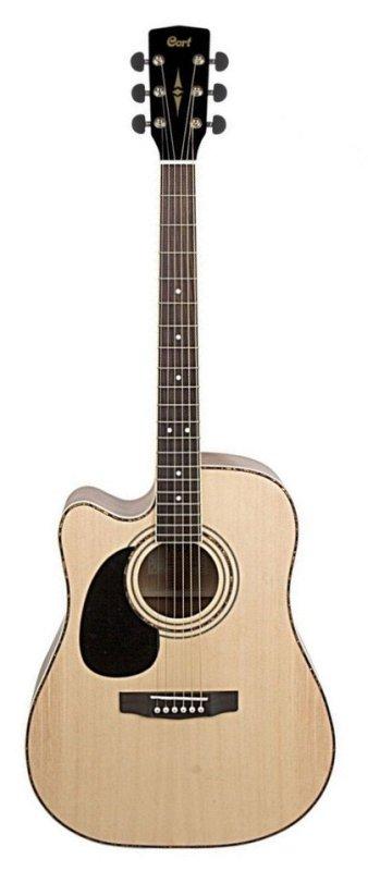Standard Series Электро-акустическая гитара, леворукая, с вырезом, цвет натуральный