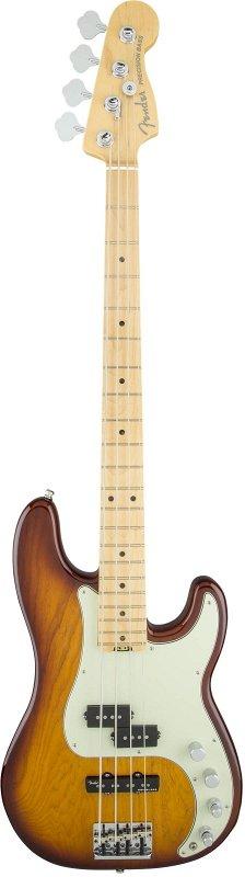 American Elite Precision Bass® Ash, Maple Fingerboard, Tobacco Burst