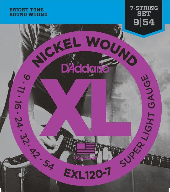EXL120-7 NICKEL WOUND 7-STRING SUPER LIGHT 9-54
