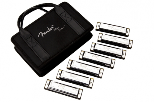 Blues Deluxe Harmonica, Pack of 7, with Case
