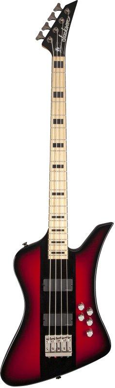 X Series Signature David Ellefson Kelly™ Bird IV Bass, Maple Fingerboard, Red Stripe