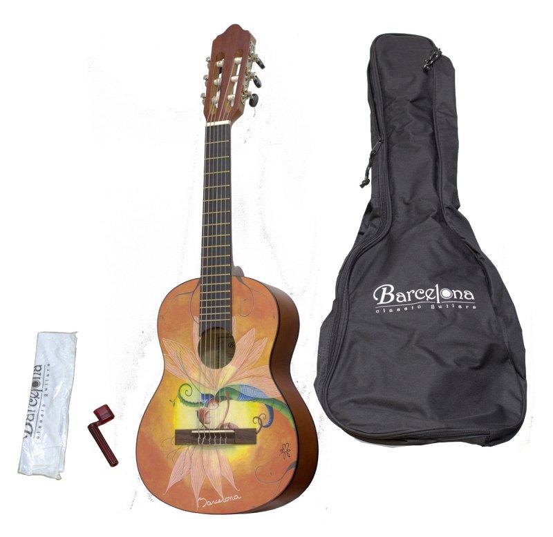 CG10K/LUCIOLE 1/4 - Набор: классическая гитара детская, размер 1/4 и аксессуары