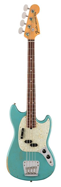 JMJ Road Worn® Mustang Bass®, Rosewood Fingerboard, Faded Daphne Blue