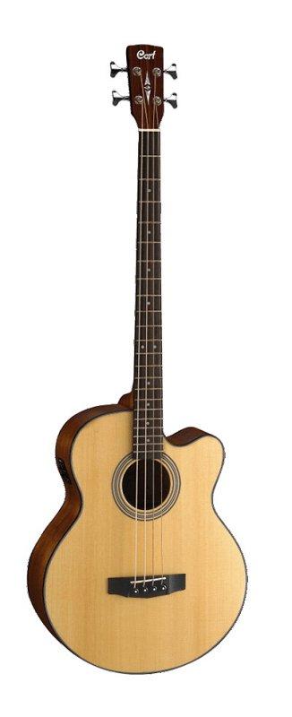 SJB5F-NS Acoustic Bass Series Электро-акустическая бас-гитара, с вырезом, цвет натуральный