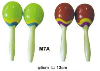 M7A Деревянные маракасы на ручке, диаметр 5cм, длина 13см