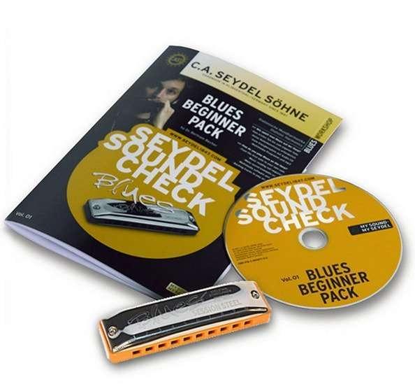 40020 Soundcheck Vol.1 STEEL - Blues Beginner Pack Губная гармошка +буклет и CD