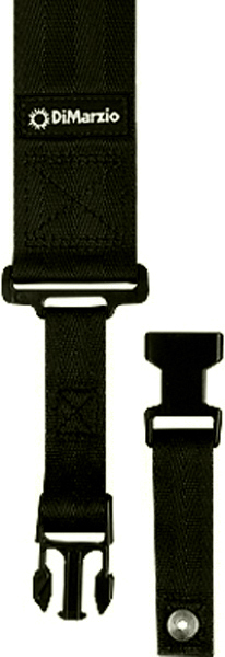 2 INCH NYLON CLIPLOCK STRAP BLACK DD2200BK