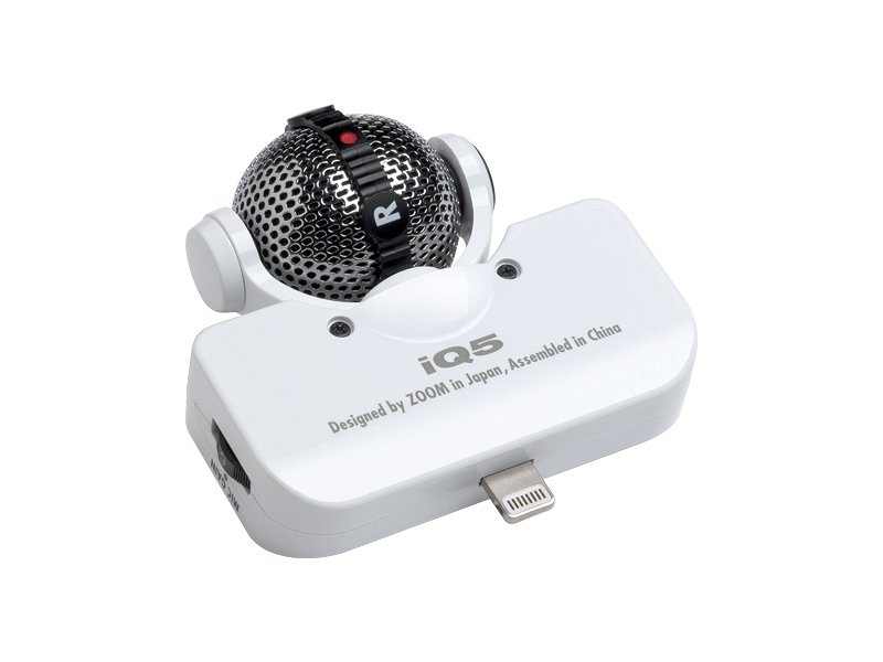 IQ5W iOS-совместимый стерео-микрофон,охват поля – 90/120°, 8--pin Lightning порт, цвет белый