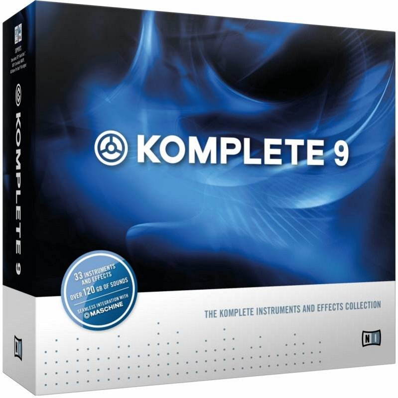 NATIVE INSTRUMENTS KOMPLETE 9 KOMPLETE 9, KONTAKT 5, REAKTOR 5.8, 7 SOFTWARE SYTHESIZERS, 7 STUDIO EFFECTS, 4 DRUM
