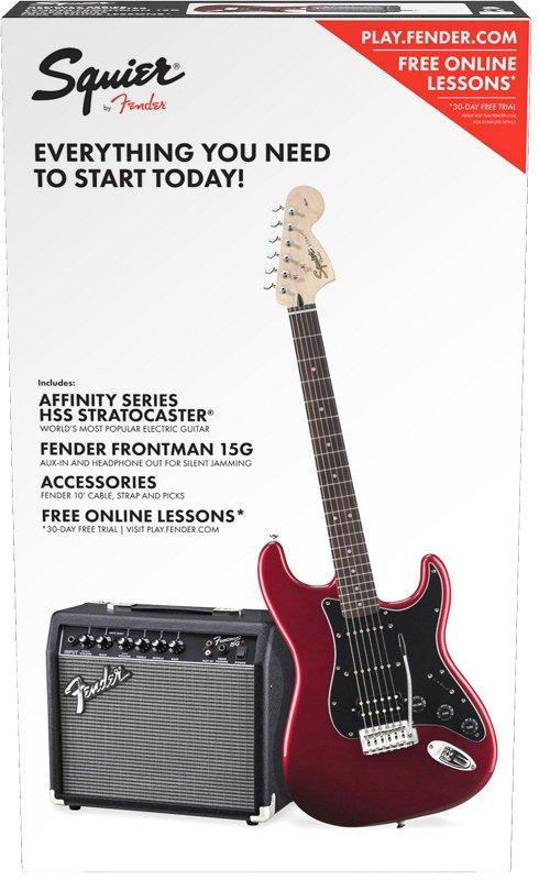 Squier Affinity Series™ Stratocaster® HSS Pack, Laurel Fingerboard, Candy Apple Red, Gig Bag, 15G - 230V EU