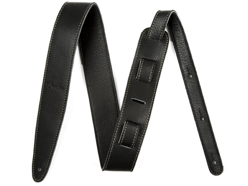 Artisan Crafted Leather Strap, 2` Black