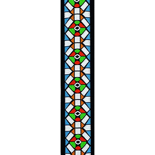 50E02 50MM Strap-Stained Glass w/ Pad