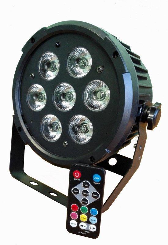 Light LED PAR 7 RGBWAUV