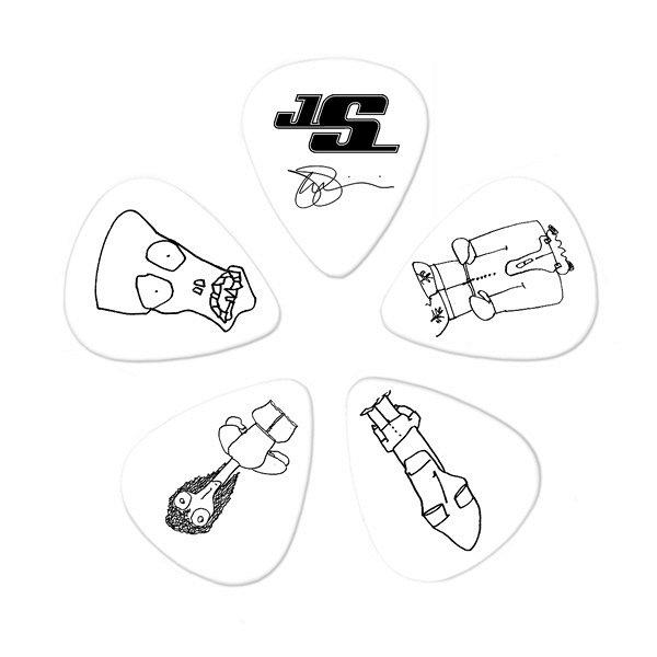 1CWH6-10JS JOE SATRIANI PICKS WHITE HEAVY