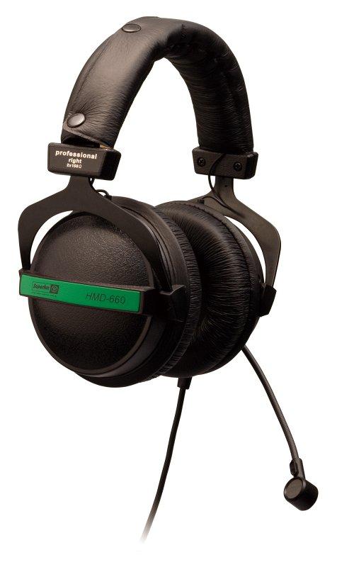 HMD660E профессиональная гарнитура со встроенным динамическим микрофоном. Витой кабель 3 м