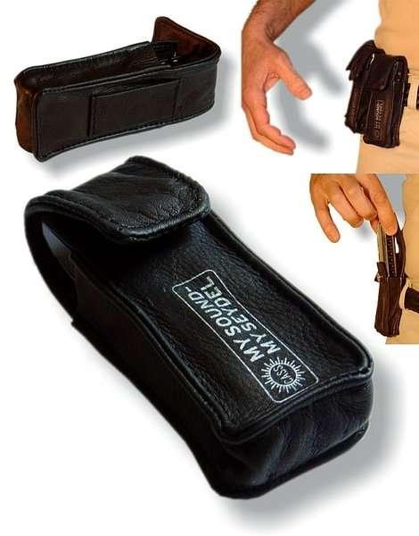 904105 Кожаная сумка на пояс для диатонической губной гармошки