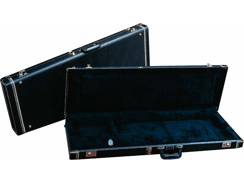 FENDER G#AND#AMP;G STANDARD MUSTANG/MUSICMASTER/BRONCO BASS HARDSHELL CASE, BLACK WITH ACRYLIC INTERIOR.