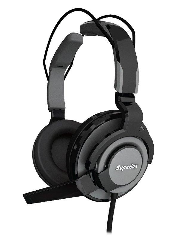 HMC631 Dark Grey профессиональная игровая гарнитура для ПК, разъёмы 2 x 3.5 мм
