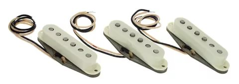 Pure Vintage `65 Strat Pickup Set, Vintage White (3)