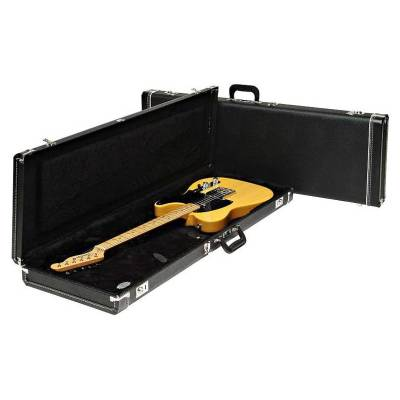 FENDER G#AND#AMP;G STANDARD MUSTANG/JAG-STANG/CYCLONE HARDSHELL CASE, BLACK WITH BLACK ACRYLIC INTERIOR