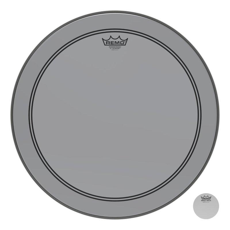 P3-1318-CT-SM Powerstroke® P3 Colortone™ Smoke Bass Drumhead, 18.