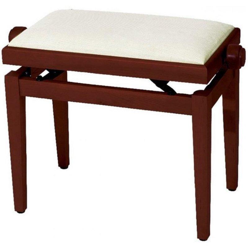 Piano Bench Deluxe Cherry Matt банкетка матовая вишня прямые ножки верх бежевый