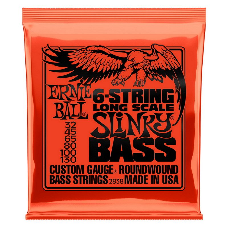 Струны для 6-струнной бас-гитары Nickel Bass LS Slinky 6 (32-45-65-80-100-130)