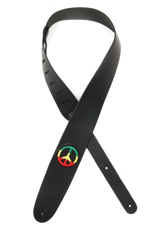 2.5` Leather with Jamaican Peace Sign Patch