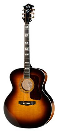 F-55 Antique burst Jumbo, solid sitka spruce top and solid Indian rosewood sides and back.