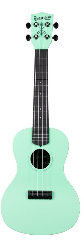 WATERMAN by KALA KA-CWB-GN Green, Matte, Concert Ukulele w/Bag