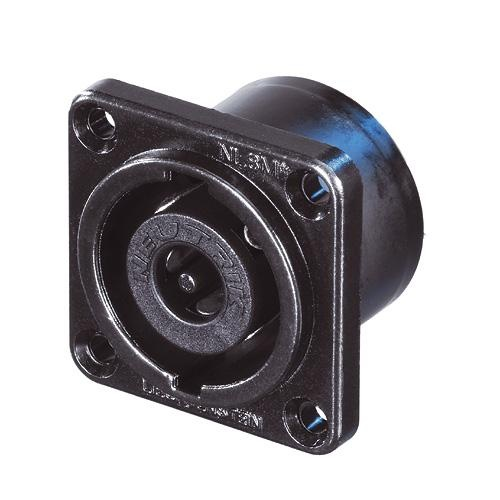 NL8MPR-BAG - панельный разъём Speakon, 8-ми конт.,квадратн.фланец , металический черненый ко