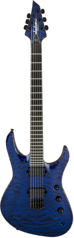 USA Signature Chris Broderick Soloist™ HT6, Ebony Fingerboard, Transparent Blue with Case фото