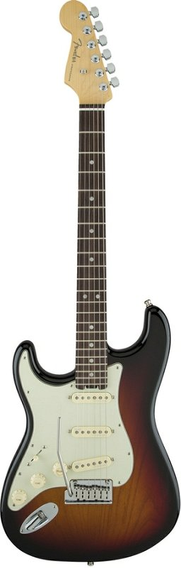 American Elite Stratocaster® Left-Hand, Ebony Fingerboard, 3-Color Sunburst