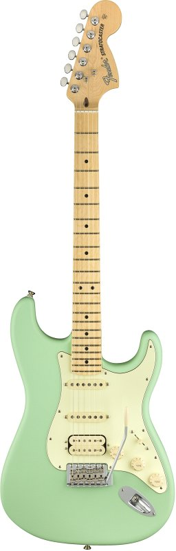 AMERICAN PERFORMER STRATOCASTER® HSS, MAPLE FINGERBOARD, SATIN SURF GREEN фото