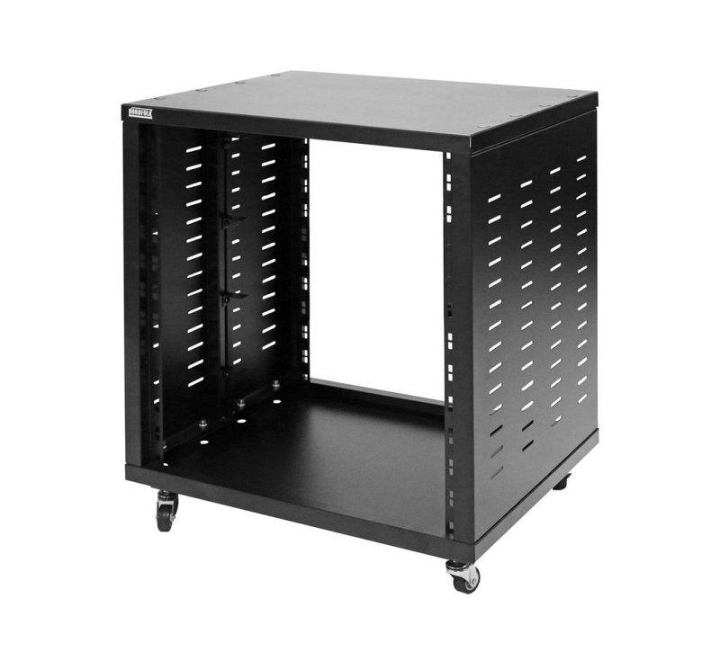 NRS12U рэковая стойка-шкаф 12U, без дверей, колеса, сталь
