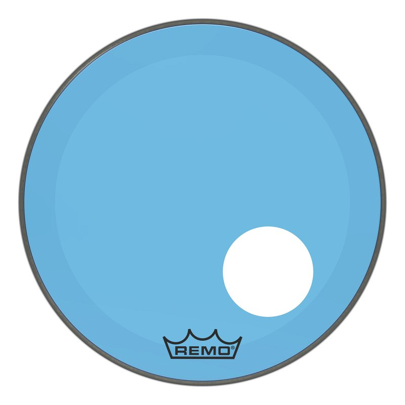 P3-1320-CT-BUOH Powerstroke® P3 Colortone™ Blue Bass Drumhead, 20`, 5` Offset Hole