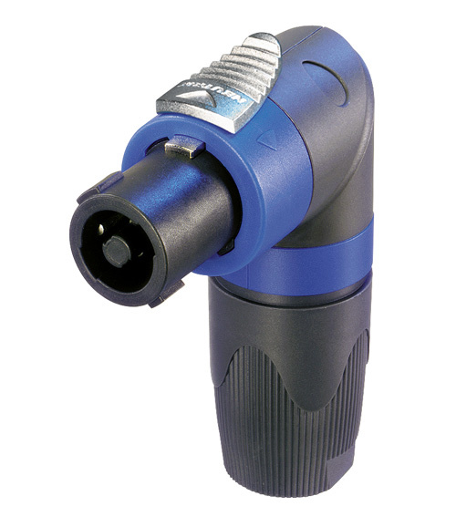 NL4FRX - кабельный разъём Speakon, 4-х контактный угловой