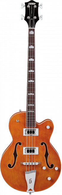 G5440LSB Electromatic® Hollow Body 34` Long Scale Bass, Rosewood Fingerboard, Orange
