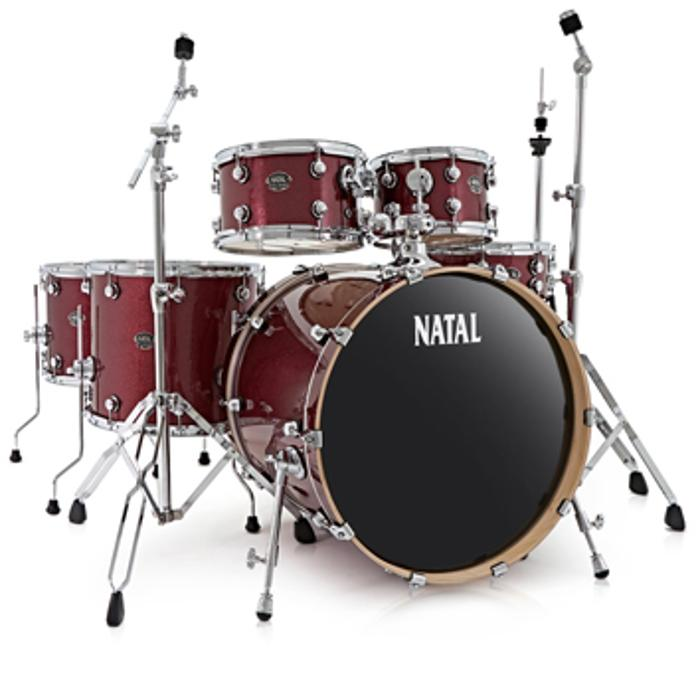 KAR-F20-RDS ARCADIA DRUM SET FUSION 20 PACK WITH HARDWARE RED SPARKLE